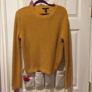 Mustard knit Forever 21 sweater